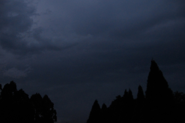 stormy evening sky